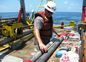 Vibracore Sediment Cores Prepared On Deck